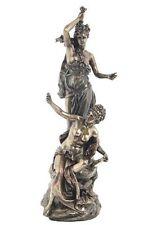 13.75 Inch Torchere Au Tamborin Statue Sculpture Greek Roman Figurine Figure