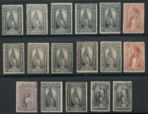 U.S. NEWSPAPER STAMPS, Group of 17 diff, nice collection, Scott for ng $2,502.00