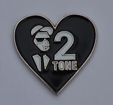 Love Two Tone Heart Shaped Quality Enamel  Pin Badge