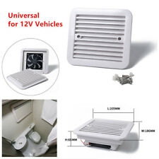 1PC Car Ventilator RV 12V White Side Air Vent with Fan One-Way Dustproof 2000RPM