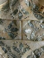 Antique Ottoman Metallic Thread Embroidery BIG SIZE - SUPERB Details