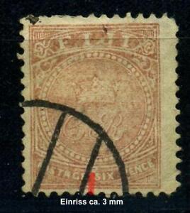"""Fiji / Fidschi - Inseln  6, 6 P. """"CR"""", II.te  Wahl s. Scan, gestempelt #p963"""