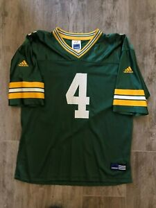 Vintage Adidas Packers Brett Favre Green #4 Football Jersey-Youth XL 18-20