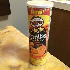 Empty Collectible Pringles Nacho Cheese Tortilla flavor.  EMPTY CAN