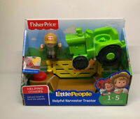 Fisher-Price Little People Helpful Harvester Tractor & Farmer Figure W/ Gate NEW