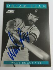 Wade Boggs RED SOX HOF 1991 Score Dream Team Signed Autograph Auto Card #889 JSA
