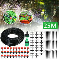 25M Micro Drip Irrigation Pipe Automatic Garden Watering Connector Plant Kit