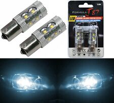 LED Light 50W PY21W White 6000K Two Bulbs Front Turn Signal Replacement Lamp OE
