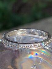 Tiffany & Co Platinum Legacy Diamond Half Circle Wedding Band Ring .35 TCW 7.25