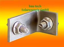 5 Stück Kreuzverbinder Edelstahl mit Hammerkopfs. Solar Profil Photovoltaik PV