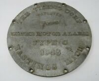 "Vintage Water Motor Alarm The Viking Corp 1945 Hastings Michigan Fire 9"" Plate"