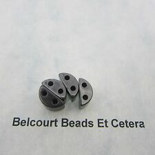 20 Magnetic Hematite Two Hole Spacer Beads 13mm by 7mm by 5mm Thickness