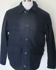 Duluth Trading Co Mens Wool Coat Jacket Tactical Peacoat Field Pockets M Navy