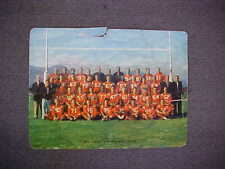 """Orig Vintage """"BC Lions 1956 Football Team"""" Colured Photograph """"Vancouver BC"""" CFL"""