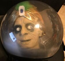 "Zultan Fortune Teller in Giant 14"" Crystal Ball GEMMY Animated Halloween Prop"