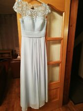 Beautiful Baby Blue floor length lace bodice dress size 10