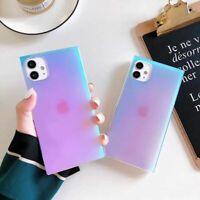Women Glitter Purple Square Phone Case Cover For iPhone11 Pro Xs Max 8Plus XR