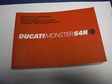 Ducati Fahrerhandbuch Monster S4R Anleitungs- u. Instandhaltungsheft