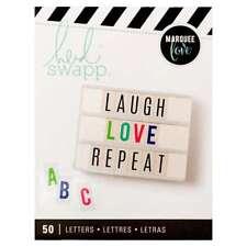 American Crafts Bold 50 Piece Heidi Swap Lightbox Alphabet Inserts Multi Color
