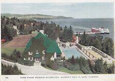 View From Manoir Richelieu MURRAY BAY Quebec Canada 1949 Folkard Foldout