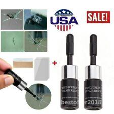 US~ Automotive Glass Nano Repair Fluid Car Windshield Resin Crack Tool Kit 2Pcs