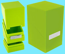 ULTIMATE GUARD MONOLITH LIGHT GREEN DECK CASE 100+ Card Dice Tower Storage Box