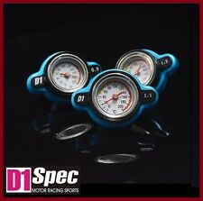 D1 SPEC BLUE Thermostatic Gauge Radiator Cap Cover 1.3 Bar BIG Head -D1S-010-1