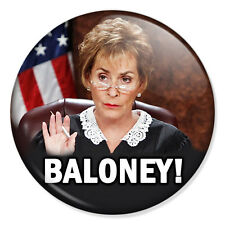 """Judge Judy Sheindlin 25mm 1"""" Pin Badge Button Baloney!"""