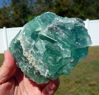 GEM BLUE Fluorite All Natural Crystal Self Standing Display Point Mexico Stone