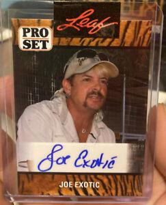 2021 Leaf Pro Set JOE EXOTIC Autograph ROOKIE Card Netflix Tiger King AUTO RC
