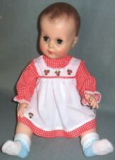 "Vintage Red & White Doll Dress fits 19-23"" Dolls, Old Store Stock 1960's"