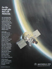 3/1990 PUB MOTOROLA ELECTRONICS SATELLITE SPACE ESPACE MAGELLAN VENUS MAPPING AD