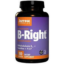 JARROW B-RIGHT - VITAMIN B COMPLEX - 100 CAPS - methylcobalamin B12, B6, niacin