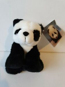 Aurora Black And White Panda Approx 15cm Tall Soft Toy Plush Toy Animal