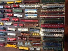 gros lot train electrique, motrices et wagons + rails jouef lima...