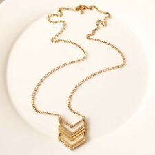 """New 29"""" Jcrew Geometric Pendant Necklace Gift Vintage Lady Party Holiday Jewelry"""