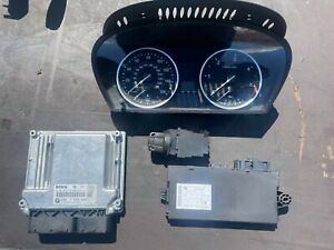 BMW 5 Series E60 E61 LCI CAS3 520d MANUAL N47 ECU KIT DDE 1 KEY 7809000