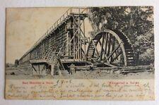 CPA. BAD MUNSTER a. STEIN. Allemagne. 1906. Wasserad u. Saline. Roue.