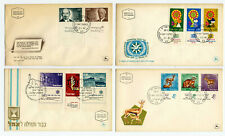 ISRAEL 44 First Day Covers 1967-1972