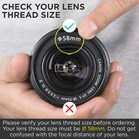 58MM 0.35X Fisheye Wide Angle Macro Lens For Canon EOS 80D 77D SLR DSLR Camera