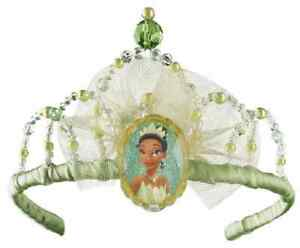 Tiana Tiara Crown Disney Princess Frog Fancy Dress Halloween Costume Accessory