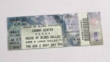 Johnny Winter at House of Blues 2007 Vintage Concert Ticket Stub! Hoochie Koo !
