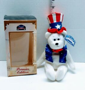 Limited Treasures 1998 Sam Independance Bear Test Issue  NWT