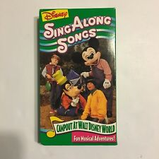 Disney Sing Along Songs Camp Out At Walt Disney World VHS Tape, Tested