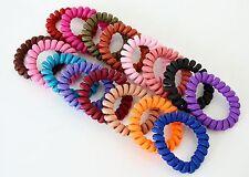 Chouchou Ressort x1 / Bracelet Elastique Spirale Fil Téléphone Mode - Tissu Uni