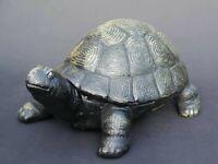 Gusseisen Figur einer Schildkröte in Bronzeoptik (3073)