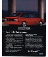 1989 Ford Escort GT Automobile Car Vtg Print Ad
