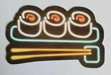 "Coffee Sign Sticker 2.75"" x 2"" Neon Computer Scrapbook Water Bottle"