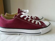 CONVERSE ALL STAR Red Maroon Unisex Size UK 6.5 EU 39.5