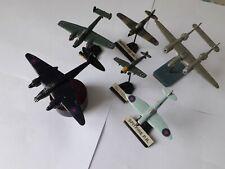 Lot de 6 avions miniatures en métal